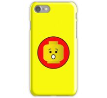 MINIFIG SHOCKED FACE iPhone Case/Skin