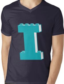 THE LETTER I, Customize My Minifig Mens V-Neck T-Shirt