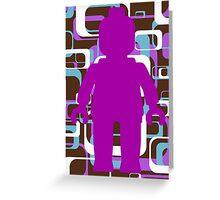 Retro Minifig Art Greeting Card