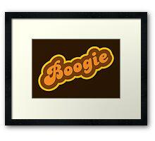 Boogie - Retro 70s - Logo Framed Print