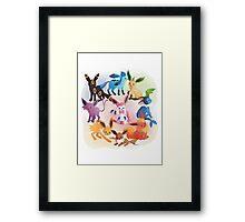 eevee cool evolutions Framed Print