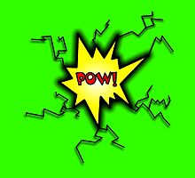 POW Caption Cushion Cover by Sookiesooker