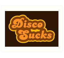 Disco Sucks - Retro 70s - Logo Art Print