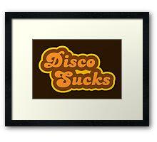 Disco Sucks - Retro 70s - Logo Framed Print