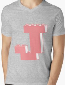 THE LETTER J, Customize My Minifig Mens V-Neck T-Shirt
