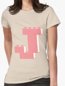 THE LETTER J, Customize My Minifig Womens Fitted T-Shirt