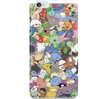 many pokemons funny poster iPhone Case/Skin