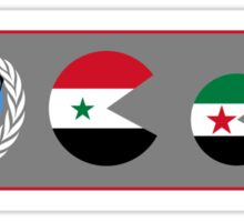 United Nations, is watching Syria Sticker
