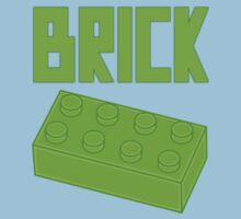 Green Brick, Customize My Minifig One Piece - Short Sleeve