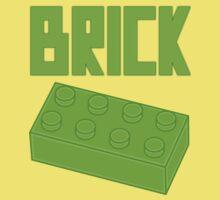 Green Brick, Customize My Minifig Kids Tee