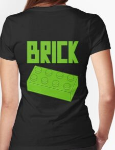 Green Brick, Customize My Minifig Womens Fitted T-Shirt