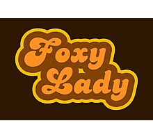 Foxy Lady - Retro 70s - Logo Photographic Print