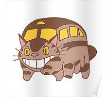 Cat Bus - Totoro Poster