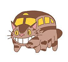 Cat Bus - Totoro Photographic Print