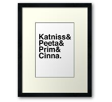 Katniss & Peeta & Prim & Cinna. Framed Print