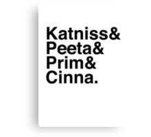 Katniss & Peeta & Prim & Cinna. Canvas Print