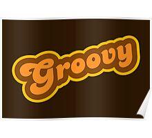 Groovy - Retro 70s - Logo Poster
