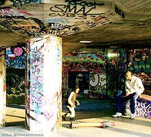 skateboards and graffiti by NinaB