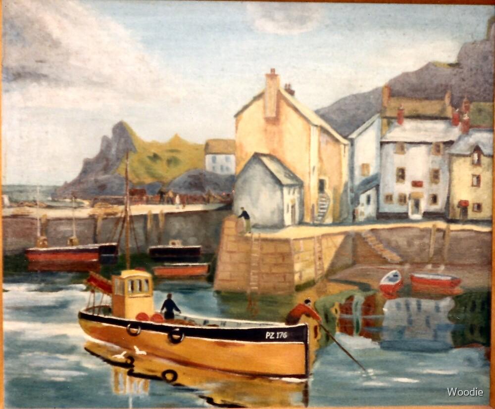 Fishing Boats Polperro by Woodie