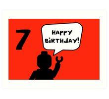 Happy 7th Birthday Greeting Card Art Print