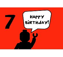 Happy 7th Birthday Greeting Card Photographic Print