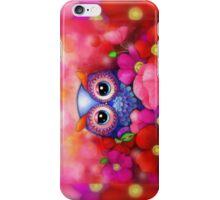 Owl in Poppy Field iPhone Case/Skin