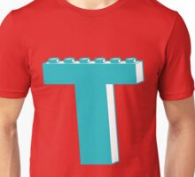 THE LETTER T, Customize My Minifig Unisex T-Shirt