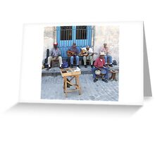 salsa band Greeting Card