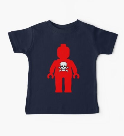Minifig with Skull Design Baby Tee