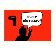 Happy 9th Birthday Greeting Card Art Print