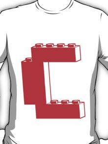 THE LETTER C, Customize My Minifig T-Shirt