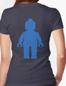 Minifig [Large Blue], Customize My Minifig Womens Fitted T-Shirt