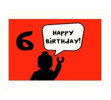 Happy 6th Birthday Greeting Card Art Print