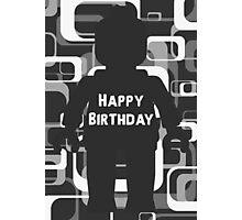 Retro Minifig Art Happy Birthday  Photographic Print