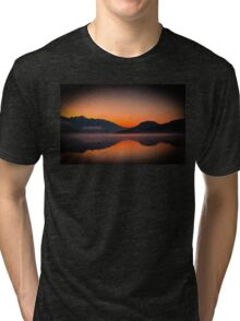 Misty fog sunrise  Tri-blend T-Shirt