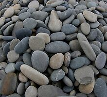 Collection of beach stones by Andrew Stock