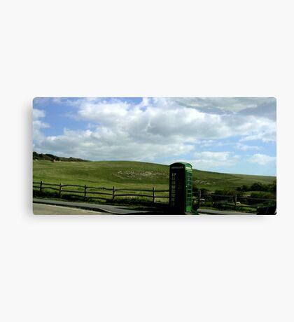 Green Phone Box Canvas Print