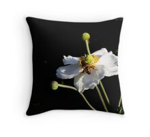 flower worker Throw Pillow