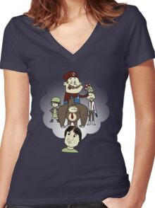 The Marvelous Mind of Miyamoto Women's Fitted V-Neck T-Shirt