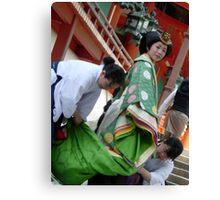 Shinto Bride Canvas Print