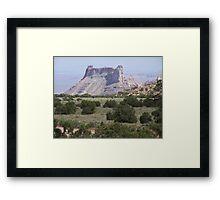 Temple Mountain Framed Print
