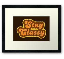 Stay Classy - Retro 70s - Logo Framed Print