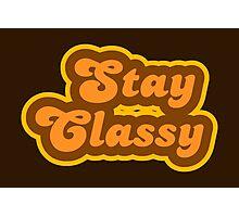 Stay Classy - Retro 70s - Logo Photographic Print