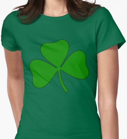 Ireland Irish Shamrock Womens Fitted T-Shirt