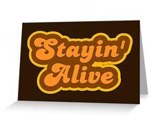 Stayin' Alive - Retro 70s - Logo Greeting Card