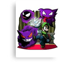 luigi mansion crossover pokemon Canvas Print
