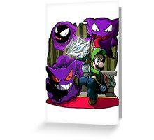 luigi mansion crossover pokemon Greeting Card