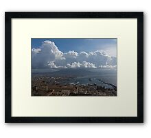 Cruising Into the Port of Naples, Italy Framed Print