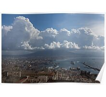 Cruising Into the Port of Naples, Italy Poster