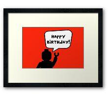 Happy Birthday Greeting Card Framed Print